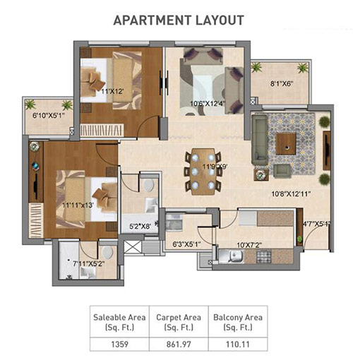 Hero Homes Gurgaon floor Plan 2