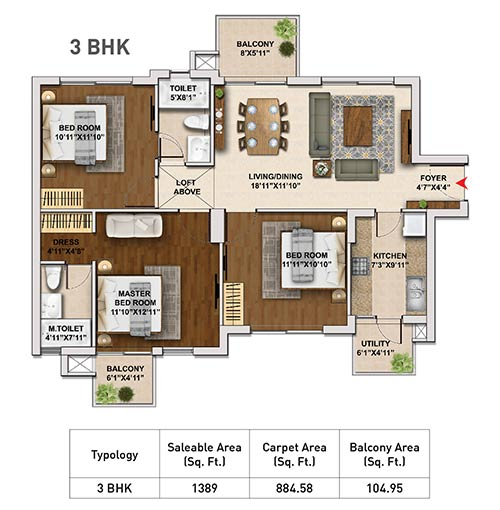 Hero Homes Gurgaon floor Plan 3