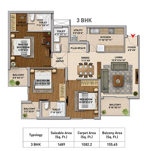 Hero Homes Gurgaon floor Plan 4